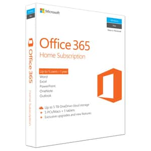 Microsoft Office 365 Home, Engleza EuroZone, Subscriptie 1 an, 5 PC/Mac, 5 Tablete, 5 Telefoane, Windows, Mac, Android, iOS