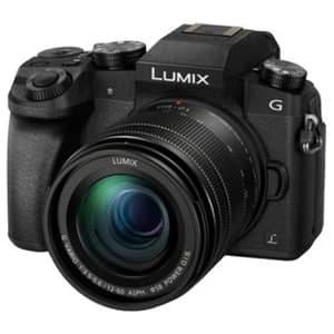 Aparat foto DSLR PANASONIC Lumix DMC-G7MEG-K, 16 MP, 4K Wi-Fi, negru, Obiectiv LUMIX 12-60/f:3,5-5,7