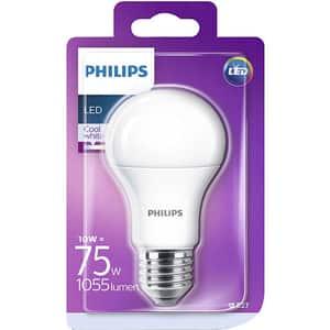 Bec LED PHILIPS A60 (75W), E27, 10W, 1055lm, lumina rece