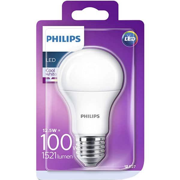 Bec LED PHILIPS A60 (100W), E27, 12.5W, 1521lm, lumina rece