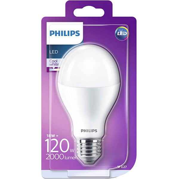 Bec LED PHILIPS A67 (120W), E27, 18W, 2000lm, lumina rece