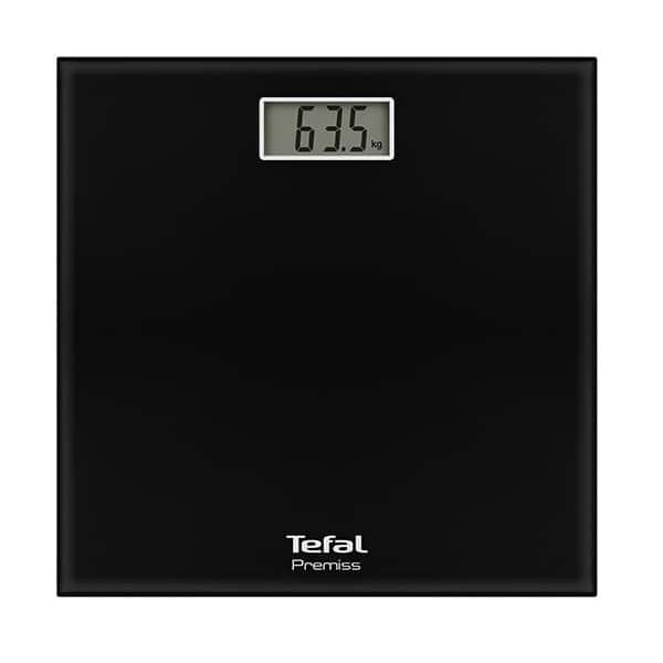 Cantar corporal TEFAL Premiss PP1060V0, 150kg, electronic, sticla, negru