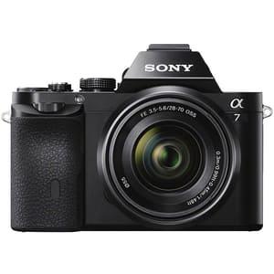 Aparat foto Mirrorless SONY Alpha A7, 24.3 MP, Wi-Fi, negru + Obiectiv SEL2870 28-70mm