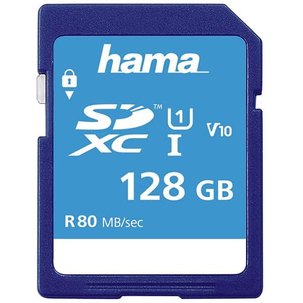 Card de memorie HAMA 124137, SDXC, 128GB, 80MB/s, Clasa 10 UHS-I