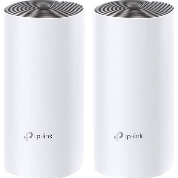Sistem Wireless Mesh TP-LINK Deco E4, Dual Band 300 + 867 Mbps, 2 buc, alb