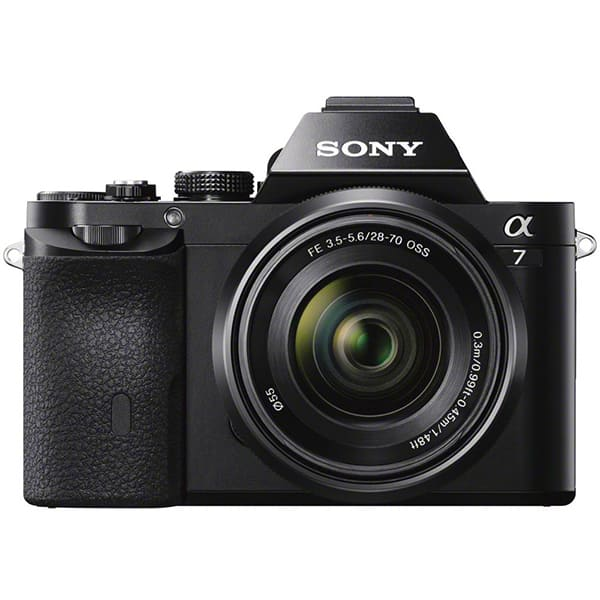 Aparat foto Mirrorless SONY Alpha A7, 24.3 MP, Wi-Fi, negru + Obiectiv SEL2870 28-70mm