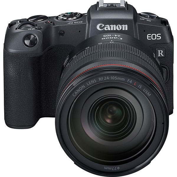 Aparat foto Mirrorless CANON EOS RP, 26.2 MP, Wi-Fi, negru + Obiectiv RF 24-105mm + Adaptor RF-EF