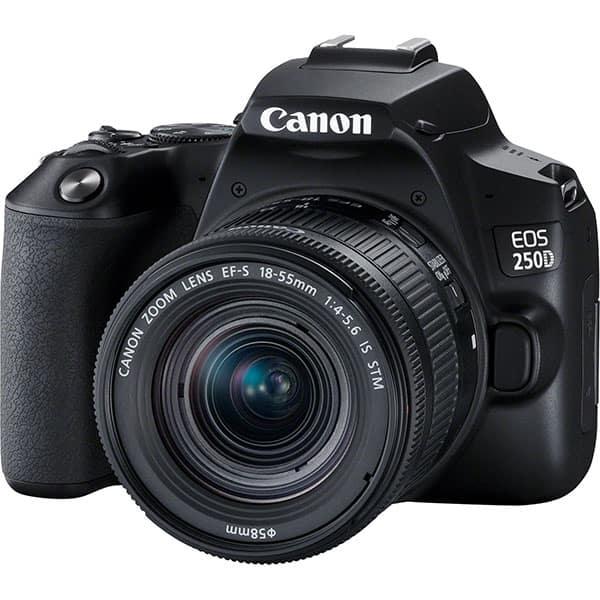 Aparat foto DSLR CANON EOS 250D, 24.1 MP, Wi-Fi, negru + Obiectiv EF-S 18-55mm IS