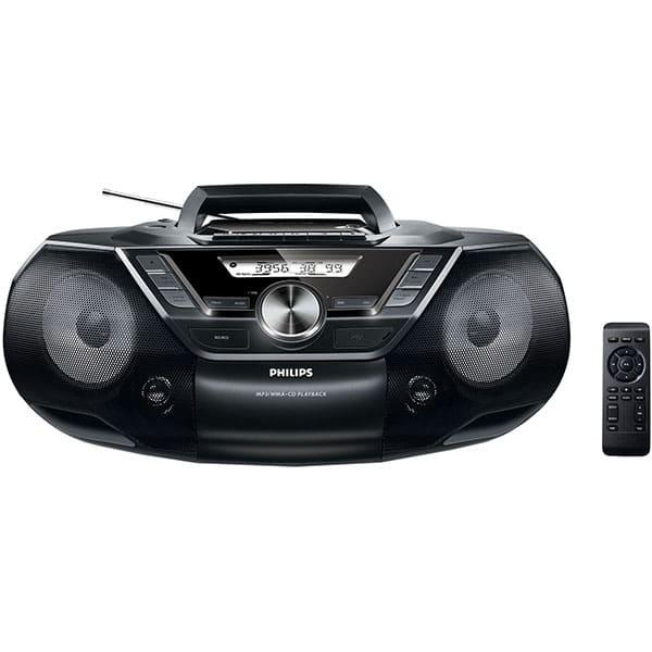 Microsistem audio PHILIPS AZ787/12, 12W, USB, CD, Radio FM, negru