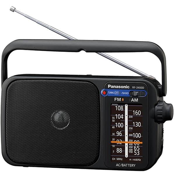 Radio portabil PANASONIC RF-2400DEG-K, FM, negru
