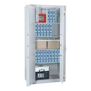 Dulap antiefractie si antifoc ROTTNER Office 3 Premium, Inchidere cheie, 520 x 930 x 1950 mm, alb