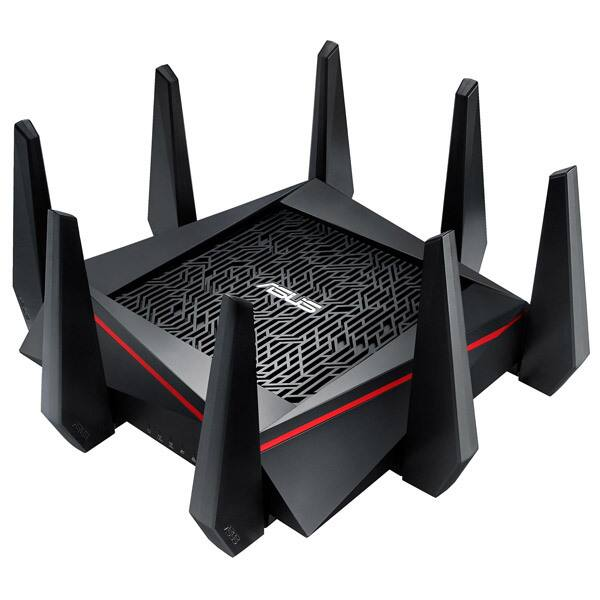 Router Wireless Gigabit ASUS RT-AC5300, Tri-Band 1000 + 2167 + 2167 Mbps, USB 3.0, negru