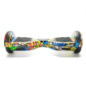 Hoverboard FREEWHEEL Junior, 6,5 inch, graffiti galben