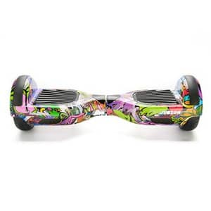 Hoverboard FREEWHEEL Junior, 6,5 inch, graffiti mov