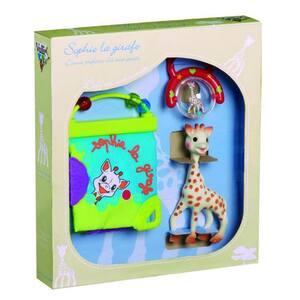 Set cadou jucarii VULLI Girafa Sophie, 0 luni+, multicolor