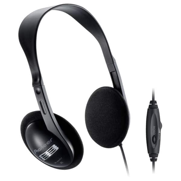 Casti PIONEER RP-HTF295E-K, Cu Fir, On-Ear, negru