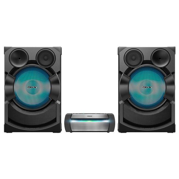 Sistem audio SONY SHAKE-X70D, Bluetooth, NFC, USB, DVD, Radio FM, Party music, Dolby Digital, Iluminare, negru