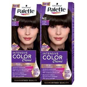 Pachet promo, Vopsea de par PALETTE Intensive Color Creme, N2 Saten inchis, 2 x 110ml