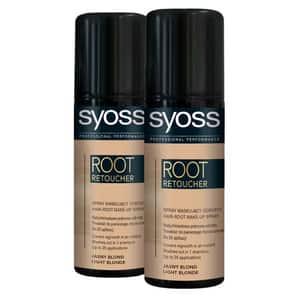 Pachet promo, Vopsea de par SYOSS Root Retoucher, Blond Light, 2 x 120ml