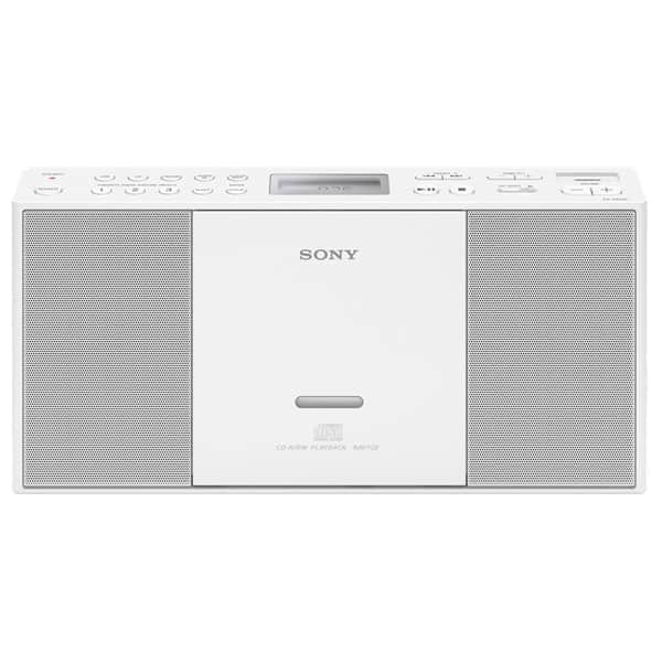 Sistem audio SONY ZS-PE60B, 2.2W, USB, CD, Radio FM, alb