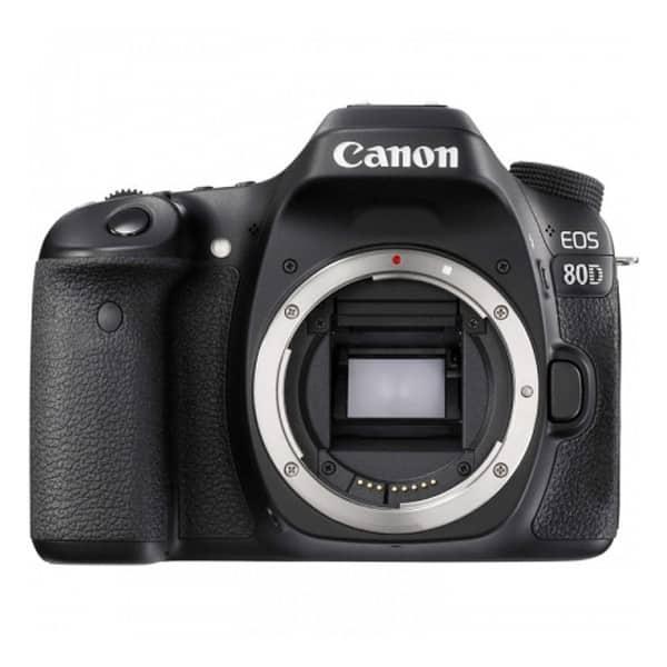 Aparat foto DSLR CANON EOS 80D, 24.2 MP, Wi-Fi, negru, Body