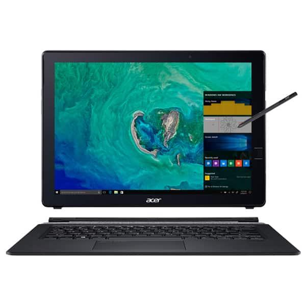 "Laptop 2 in 1 ACER Switch 7 SW713-51GNP,  Intel Core i7-8550U pana la 4.0GHz, 13.5"" QHD Touch, 16GB, SSD 512GB, NVIDIA GeForce MX150 2GB, Windows 10 Pro, negru"