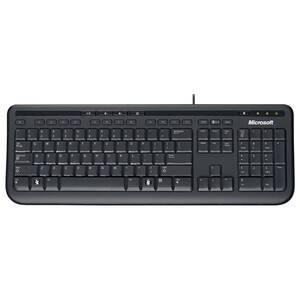 Tastatura cu fir MICROSOFT 600, USB, Layout US, negru