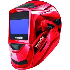 Masca de sudura automata TELWIN VANTAGE RED XL, 4 senzori, vizor 100x93mm, incarcare solara + 2xCR2032