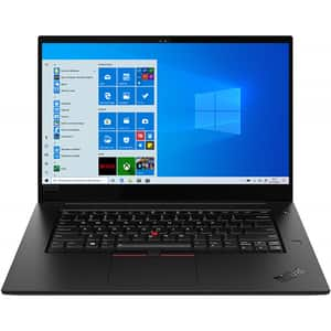 "Laptop LENOVO ThinkPad X1 Extreme Gen 2, Intel Core i7-9750H pana la 4.5GHz, 15.6"" HDR 4K 16GB, SSD 512GB, NVIDIA GeForce GTX 1650 4GB, Windows 10 Pro, negru"