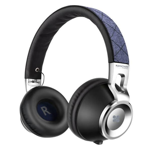 Casti PROMATE Thump, Cu Fir, On-Ear, Microfon, albastru