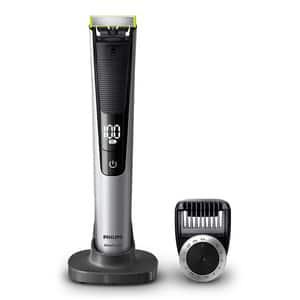Aparat hibrid de barbierit si tuns barba Philips OneBlade Pro QP6520/20, baterie, 90 min autonomie, argintiu