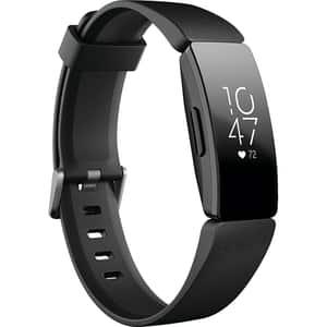Bratara fitness FITBIT Inspire HR, Android/iOS, silicon, negru