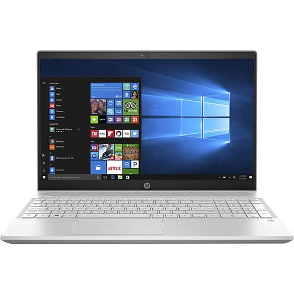 "Laptop HP Pavilion 15-cs0022nq, Intel Core i3-8130U pana la 3.4GHz, 15.6"" Full HD, 6GB, HDD 1TB + SSD 128GB, Intel UHD Graphics 620, Windows 10 Home"