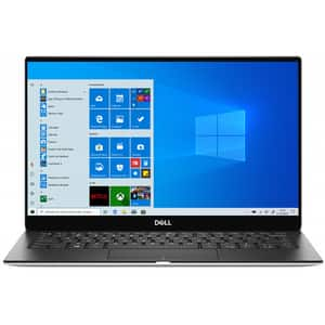 "Laptop DELL XPS 13 7390, Intel Core i7-10710U pana la 4.7GHz, 13.3"" Full HD, 8GB, SSD 512GB, Intel UHD Graphics, Windows 10 Pro, argintiu"
